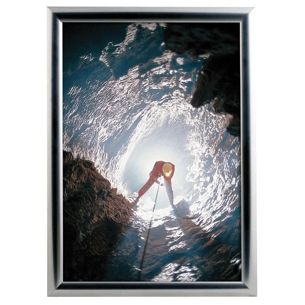 8.5x11 Snap Poster Frame - 1 inch Chrome Look Mitred Profile