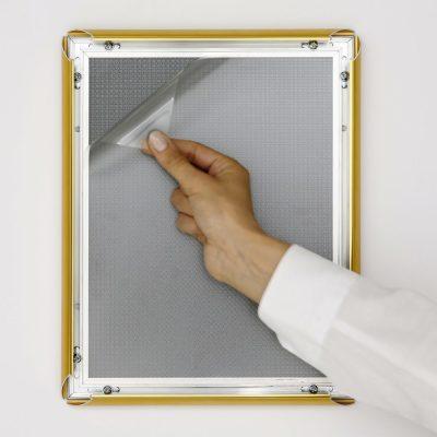 8.5x11 Snap Poster Frame - 1 inch Golden Look Profile Mitered Corner (3)