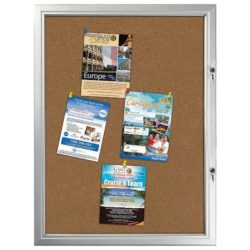 "9x(8.5""x11"") Enclosed Cork Bulletin Board Outdoor Use"