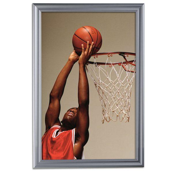 Fancy Frame 24 X 36 Poster Size 1.58 Silver Color Profile, Mitered Corner