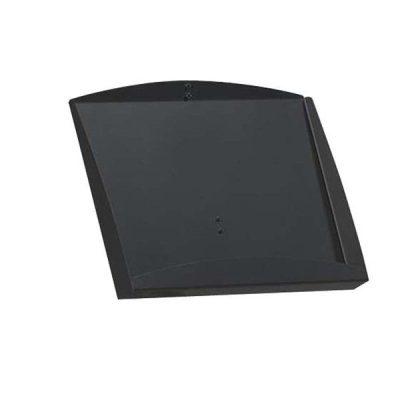 "Leaflet & Brochure Display Shelf 2 x (8.5"" x 11"") Black Steel Shelf Only"
