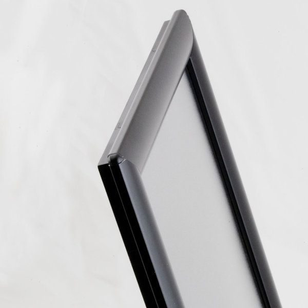 "Opti Frame 8.5"" x 11"" 1"" Black Mitered Profile, Without Back Support"