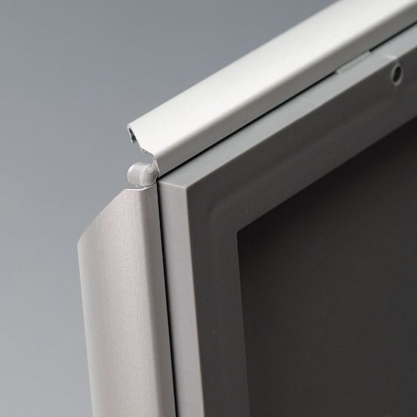 """Opti Frame 8.5"""" x 11"""" 1"""" Silver Mitered Profile, Without Back Support"""
