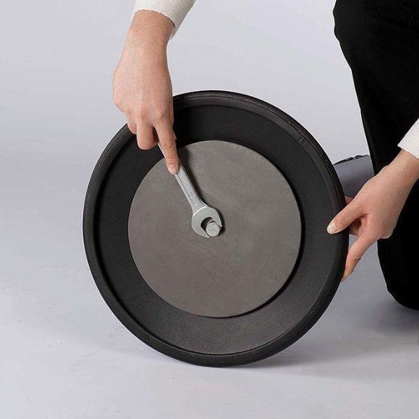 "Q Belt Black With 118"", Grey, Retractable Belt"