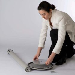 "Q Belt Grey With 118"", Grey, Retractable Belt"