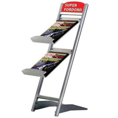 "Rapid Brochure Set 2 Tiers For 8.5"" x 11"" Brochures"