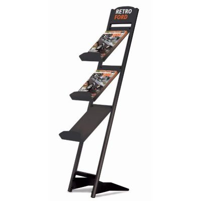 "Rapid Brochure Set 3 Tiers For 8.5"" x 11"" Brochures Black"