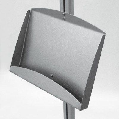 "Steel Shelf Holds 2 - 5.8"" x 8.2"""