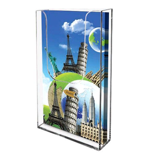 wall mount brochure holder 4 w x 6 h brochure dimension. Black Bedroom Furniture Sets. Home Design Ideas