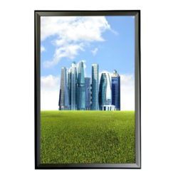 "1.25"" Black profile Snap frame. Ideal for 24""x36""packed by 10"