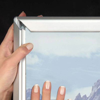 "1.25"" Silver profile Snap  frame. Ideal for 24"