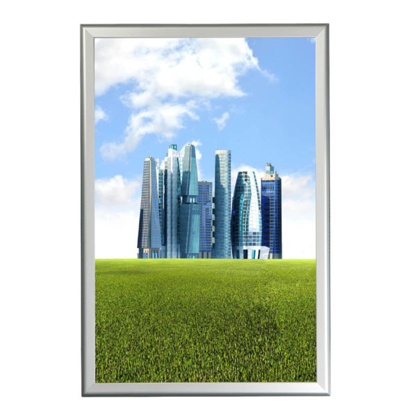 "1.25"" Silver profile Snap  frame. Ideal for 24""x36""packed by 10"