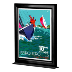 11×17 Counter Slide In Frame Black Double Sided Vertical
