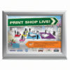 11×17 Counter Slide In Frame Silver Double Sided Horizontal