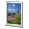 11×17 Counter Slide In Frame Silver Double Sided Vertical