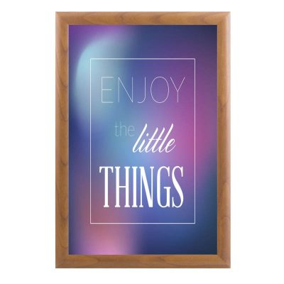 11x17 Snap Poster Frame - 1 inch Wood Look Profile