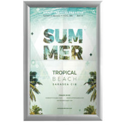11x17 Weatherproof Snap Poster Frame - 1 inch Silver Profile