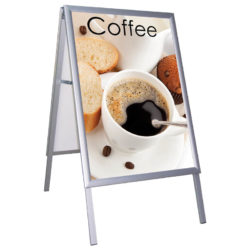 22x28 Weatherproof A Board Sidewalk Sign 1.38 inch Silver Profile
