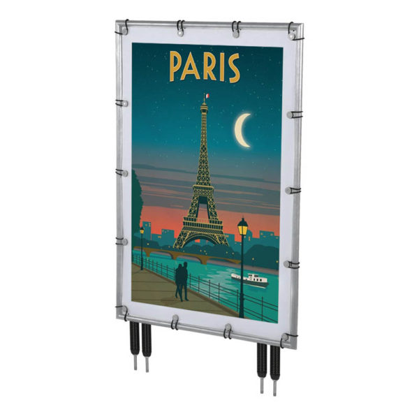24x36 Banner Pro Silver Frame