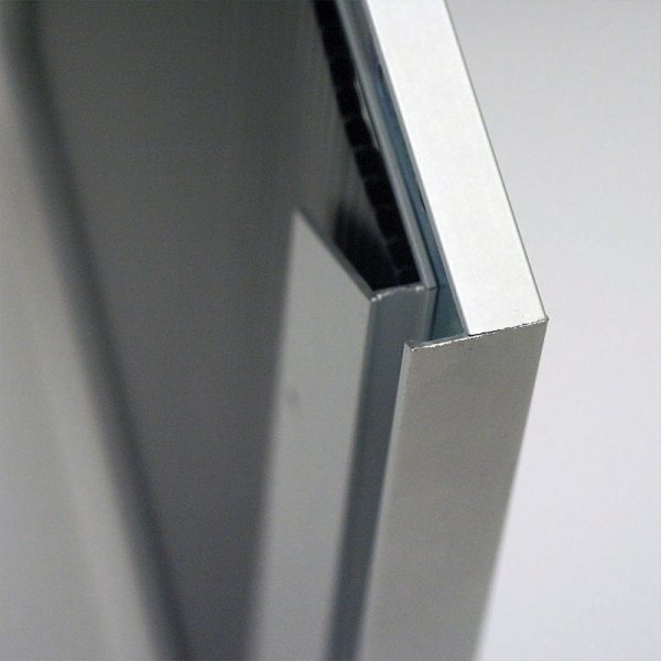 "Single Sided Silver Slide in Frame 24""x36"" 0.93"" profile"