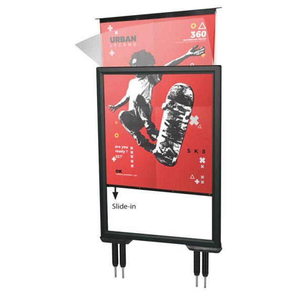 """27"""" × 40"""" Slide-in Swing Pro Body  R9005"""