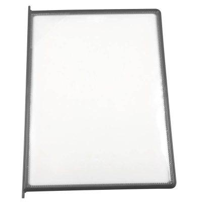 8.5x11 10 Pack Gray Framed Clear Pocket