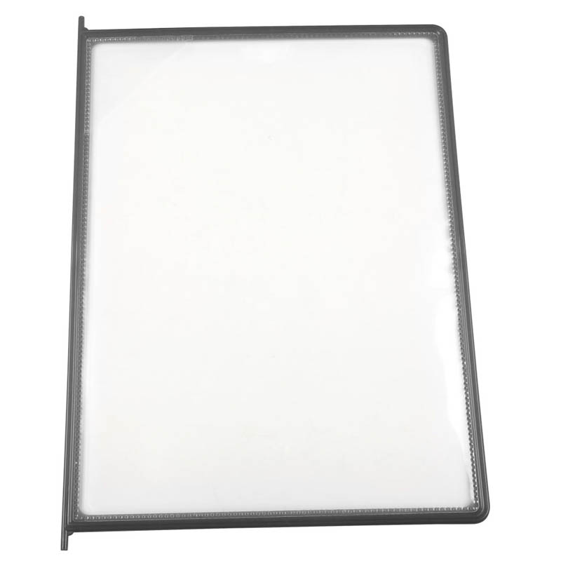 Grey framed clear pockets 8,5\'\'x11\'\' Packed by 10