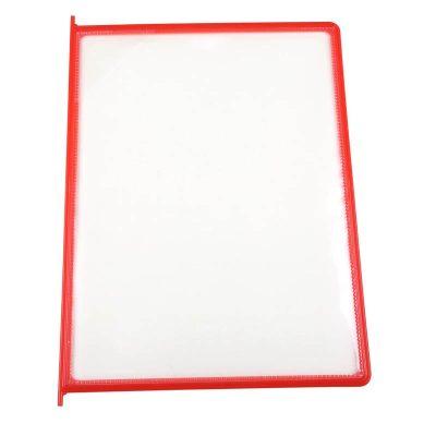 8.5x11 10 Pack Red Framed Clear Pocket
