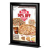 8.5x11 Counter Slide In Frame Black Double Sided Vertical