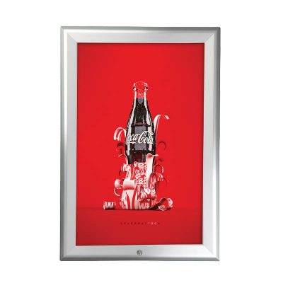 8.5x11 Snap Poster Frame - 1.25 inch Silver Mitred Profile