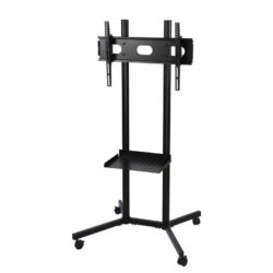 Black Slim Portable TV Stand