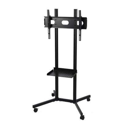 Black Slim Portable TV Stand