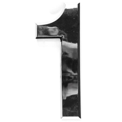Chrome coated plastic House numbers.Silver