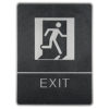 Chrome framed Braille Sig, exit