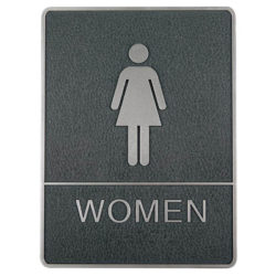 Chrome framed Braille Sign, female