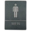 Chrome framed Braille Sign,male