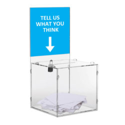 "Clear locking Puzzle Box 12"" x 12""  with Logo"