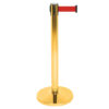 Made of stainless steel, Stanchion with Retractable Red Belt