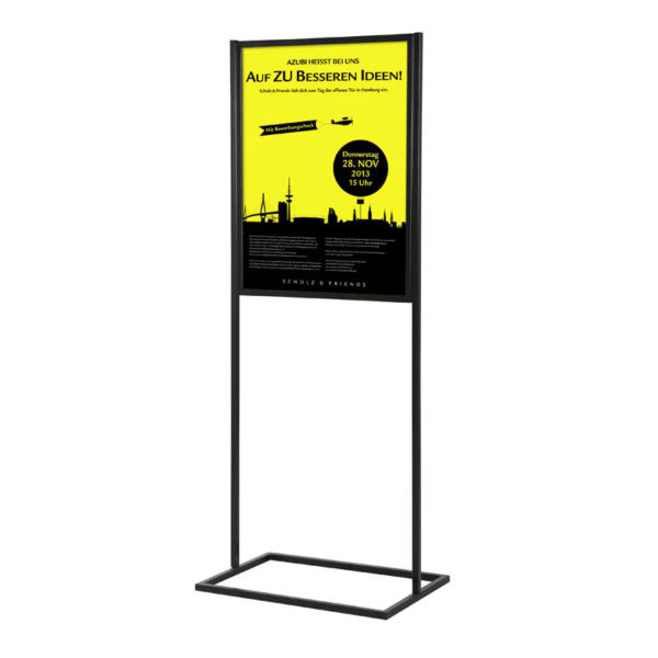 "Metal Eco Infoboard Black 18"" x 24"" One Tier"
