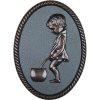 Oval shape Bronze framed plastic injected toilet isgn men