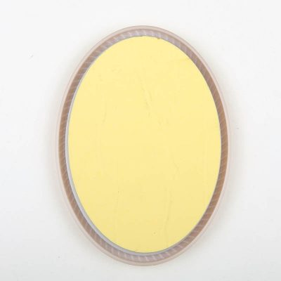 Oval shape Gold color plastic injected toilet sign, women