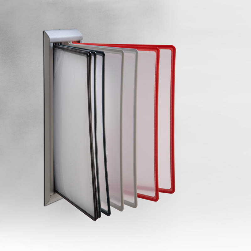 plastic stand with pet pockets 8 5 39 39 x11 39 39 r9005 for wall. Black Bedroom Furniture Sets. Home Design Ideas