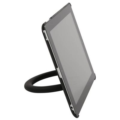 Semi Circle Tablet Holder in Silver for Tablets 9.5
