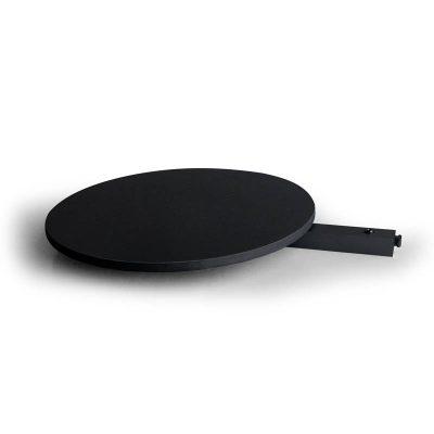 Shelf for Free Standing Black Round