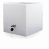 "Solid white locking Puzzle Box 12"" x 12"""