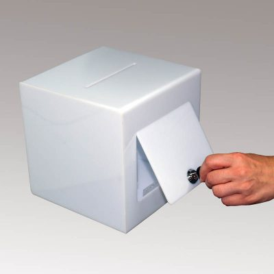 Solid white locking Puzzle Box 12