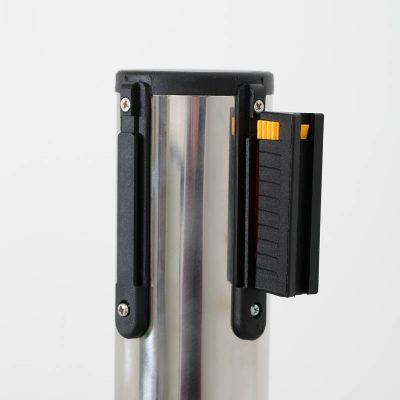 Stanchion with Retractable Red Belt - Made of Stainless Steel