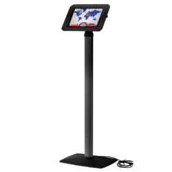 View angle adjustable iPad Kiosk Black