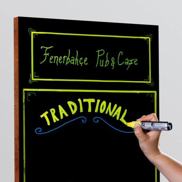 "Wood chalkboard frame for wall mount  11""x17"""