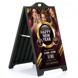24w x 36h SignPro A Board Sidewalk Sign - Black